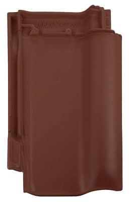 Керамическая черепица Braas Рубин 9V (покрытие- ангоб), цвета- коричневый/антрацит