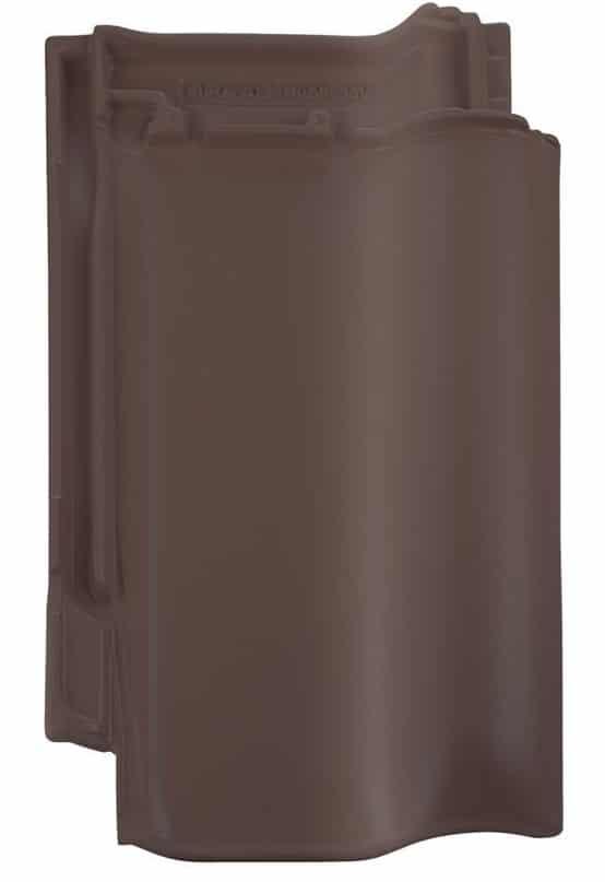 Керамическая черепица Braas Рубин 13V (покрытие- ангоб), цвета- медный/коричневый