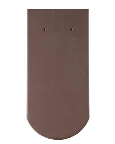 Керамическая черепица Braas Опал (покрытие- ангоб), цвета- красное пламя/коричневый/антрацит