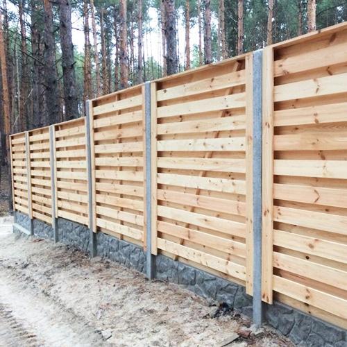 """Деревянный забор """"Шахматка-0"""" 2.0х2.0"""