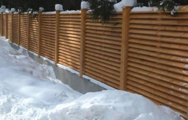 "Деревянный забор ""Жалюзи-0""  2.0х2.0"
