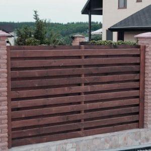 """Деревянный забор """"Шахматка-2""""  1.7х2.0"""