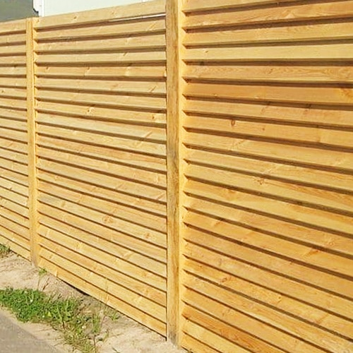 "Деревянный забор ""Жалюзи-1""  2.0х2.0"