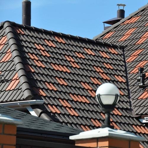 Монтаж натуральной черепицы – простая крыша (только кровельное покрытие)