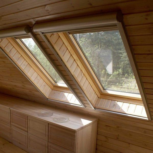 Мансардное окно Roto R48WH 74×118 (белая сосна)