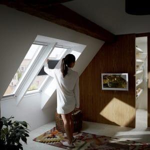 Окно на крышу Roto R48WH 114×118 (белая сосна)