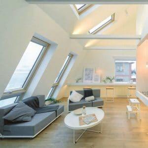 Чердачное окно Roto R48WH WD 100×124 (белая сосна)