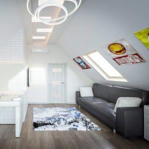 Мансардное окно Roto R69P WH WD 100×146 (белая сосна)