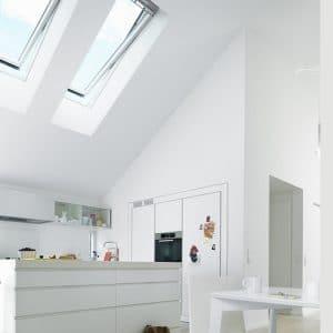 Мансардное окно Roto R69G WH WD 100×124 (белая сосна)