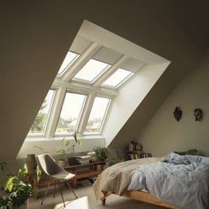Окно мансардное Roto R69P K WD KK/KG 80×146 (ламинация под дерево)