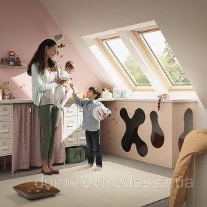 Мансардное окно Roto R45K WD 71×146