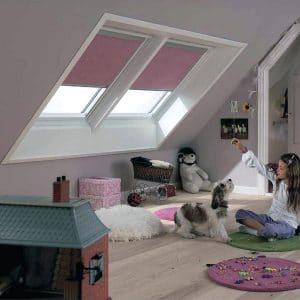 Окно в чердак Roto R45WH 114×118 (белая сосна)