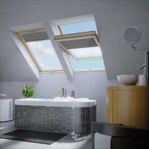 Окно в мансарду Roto R45WH WD 80×146 (белая сосна)
