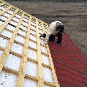 Монтаж композитной черепицы – сложная крыша (металл и планки)