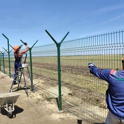 Установка забора из секций высотой до 2,4 м (бетонирование столбов) с Y наконечником и АКЛ