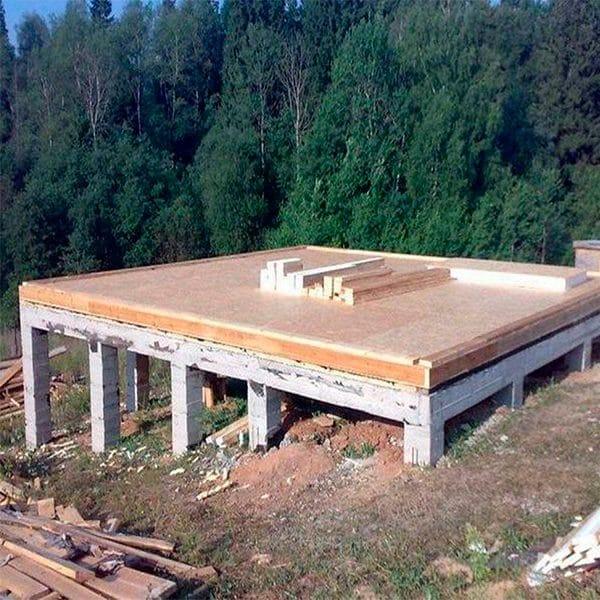 Строительство монолитного ростверко-свайного фундамента