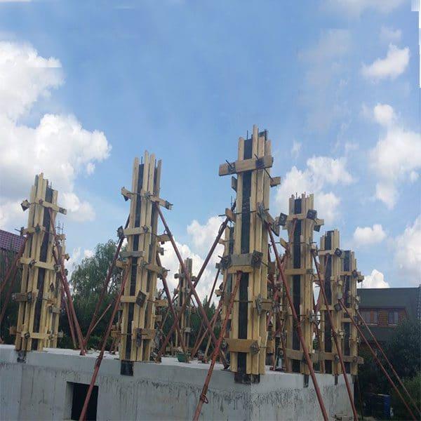 Строительство монолитных колон сечением 250х250 мм