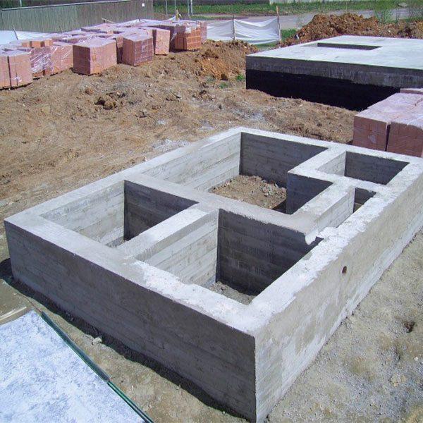 Монтаж монолитного ленточного фундамента простого