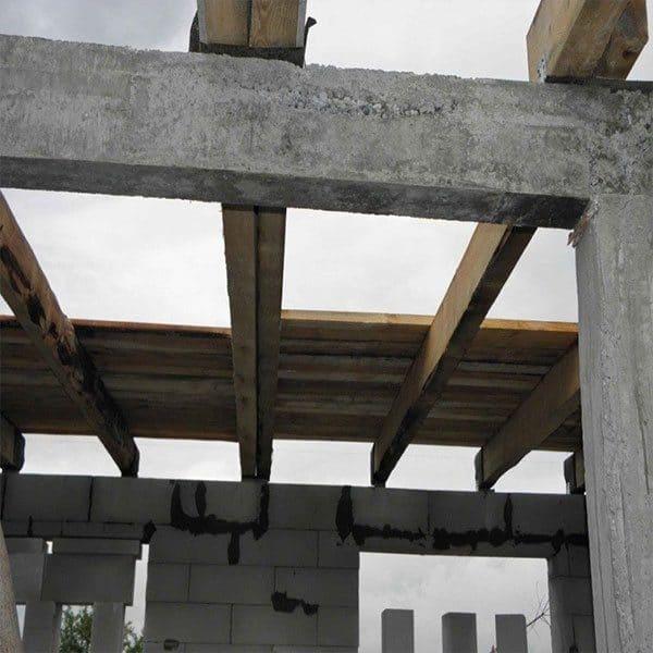 Строительство монолитной балки сечением 500х500 мм