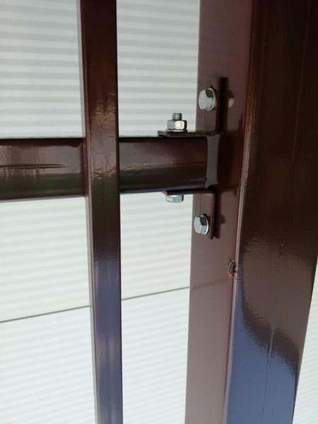 Ворота двустворчатые ДЕКО 1500х5000 мм, модель А (03 серия)