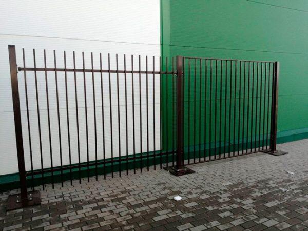 Ворота двустворчатые ДЕКО 2000х6000 мм, модель В (03 серия)
