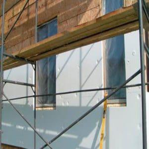 Работы по утеплению фасада пенопластом 100 мм (декор: минеральная штукатурка+ краска)