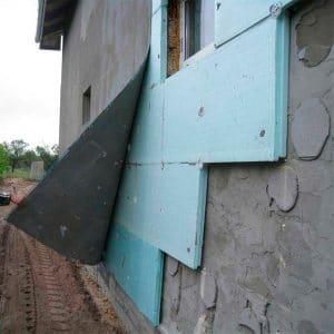 Работы по утеплению фасада экструдером 100 мм (декор: минеральная штукатурка+ краска)