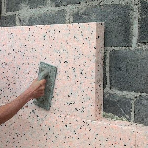 Фасадное утепление экструдером 100 мм (декор- структурная краска)