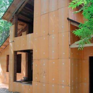 Утепление фасада экструдером 50 мм (декор- структурная краска)