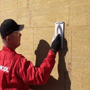 Фасадное утепление минеральной ватой 50 мм (декор: тонированная штукатурка)