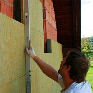 Утепление фасада минеральной ватой 100 мм (декор- структурная краска)