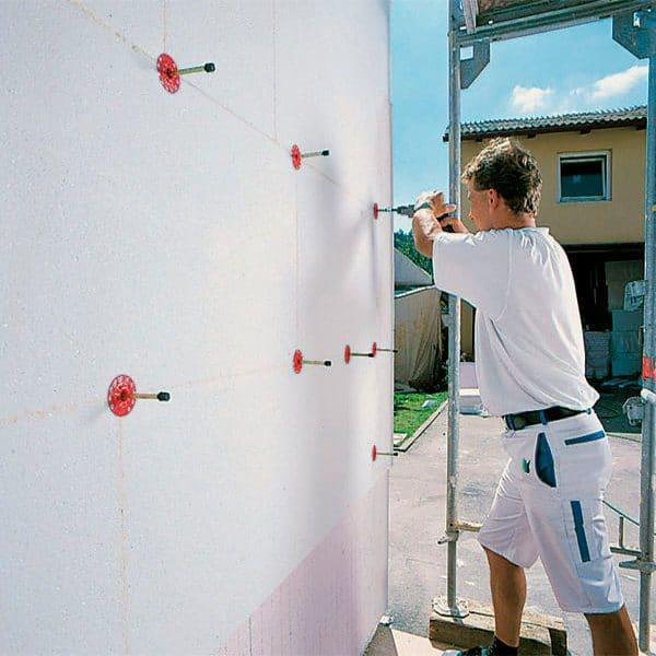 Работы по утеплению фасада пенопластом 150 мм (декор- структурная краска)