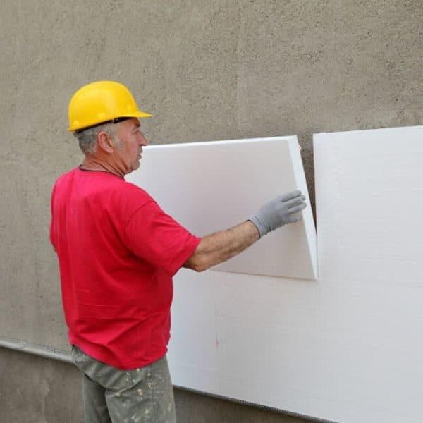 Работы по утеплению фасада пенопластом 50 мм (без финишного покрытия)