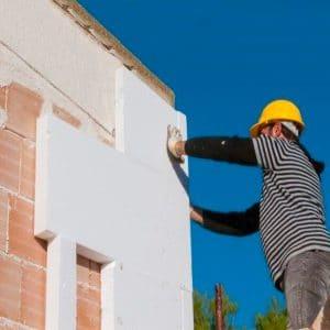 Утепление фасада пенопластом 100 мм (без финишного покрытия)