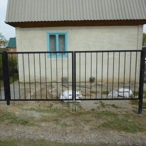 Ворота двустворчатые ДЕКО 2000х4000 мм, модель В (03 серия)