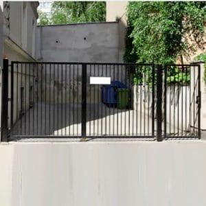 Ворота двустворчатые ДЕКО 1500х5000 мм, модель В (03 серия)