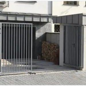 Распашные ворота ДЕКО 1500х4000 мм, модель В (11 серия)