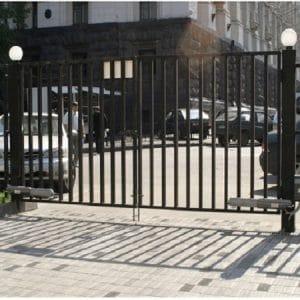 Ворота двустворчатые ДЕКО 2000х5000 мм, модель В (03 серия)