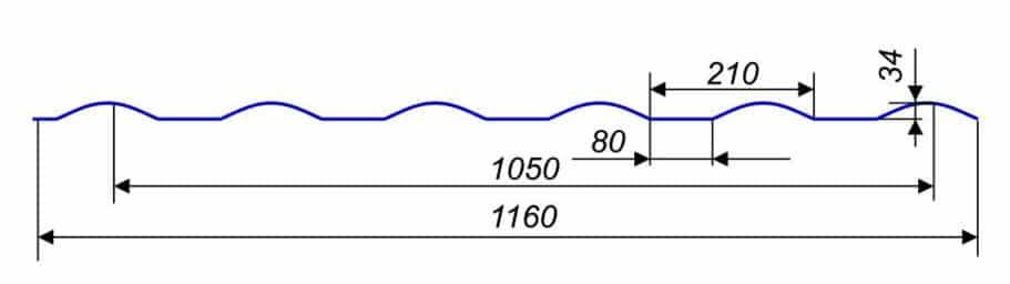 Металлочерепица Retro Premium 1160/1050 мм, (Thyssen krupp - Германия), IceCrystal