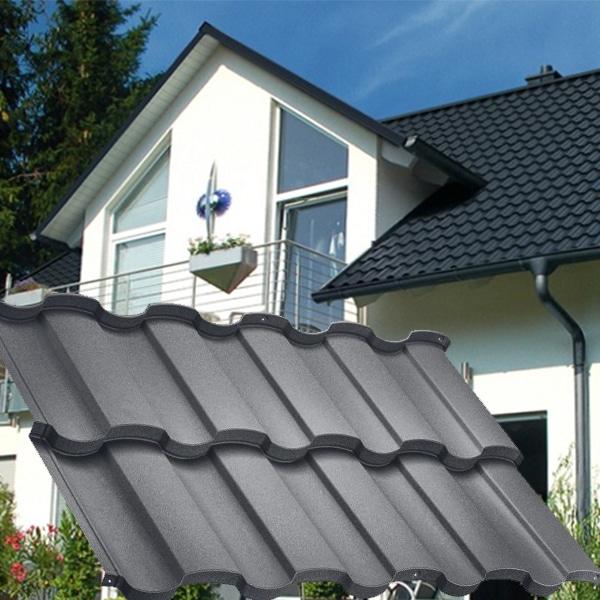 Модульная металлочерепица Rialto D-Matt (Arcelor Mitall – Германия).